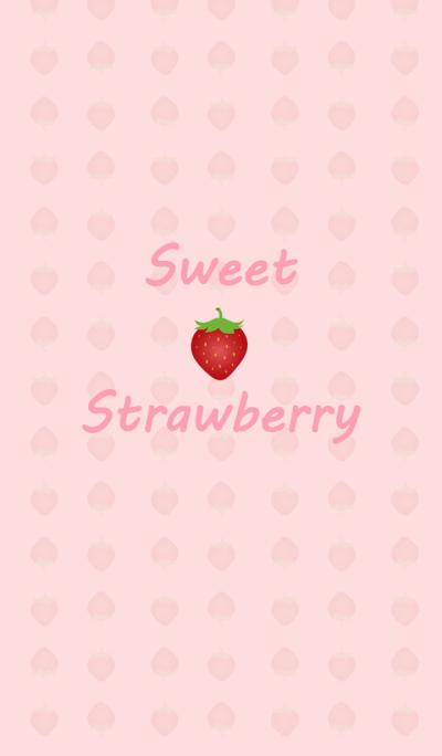 Pink sweet strawberry