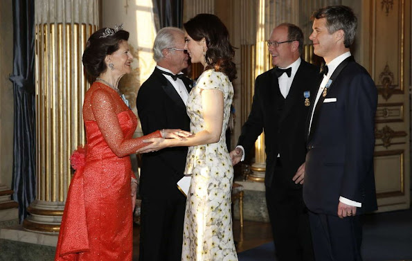 King Carl Gustaf , Queen Silvia, Queen Mathilde, Crown Princess Victoria, Prince Daniel, Princess Madeleine and Christopher O'Neill, Former Spanish Queen Sofia and King Juan Carlos, Crown Prince Frederik and Crown Princess Mary