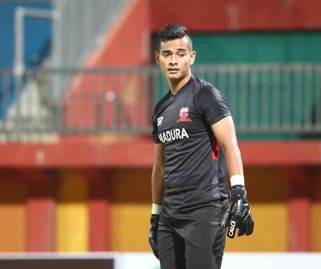 Foto Profil Ravi Murdianto Kiper Baru Madura United