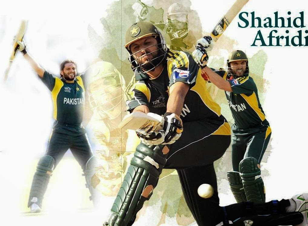 Shahid Afridi Brand New HD Wallpaper 2014-15