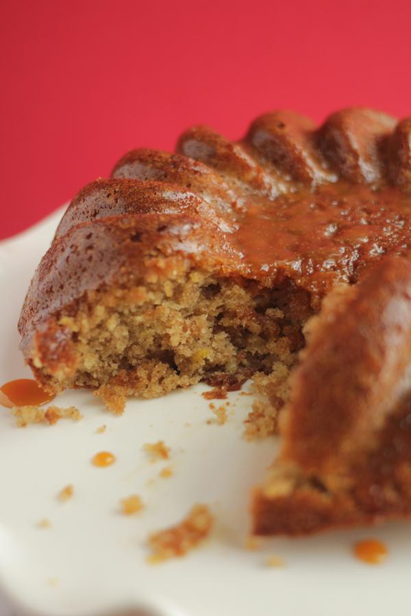 Apple Spice Cake with Caramel Sauce Recipe