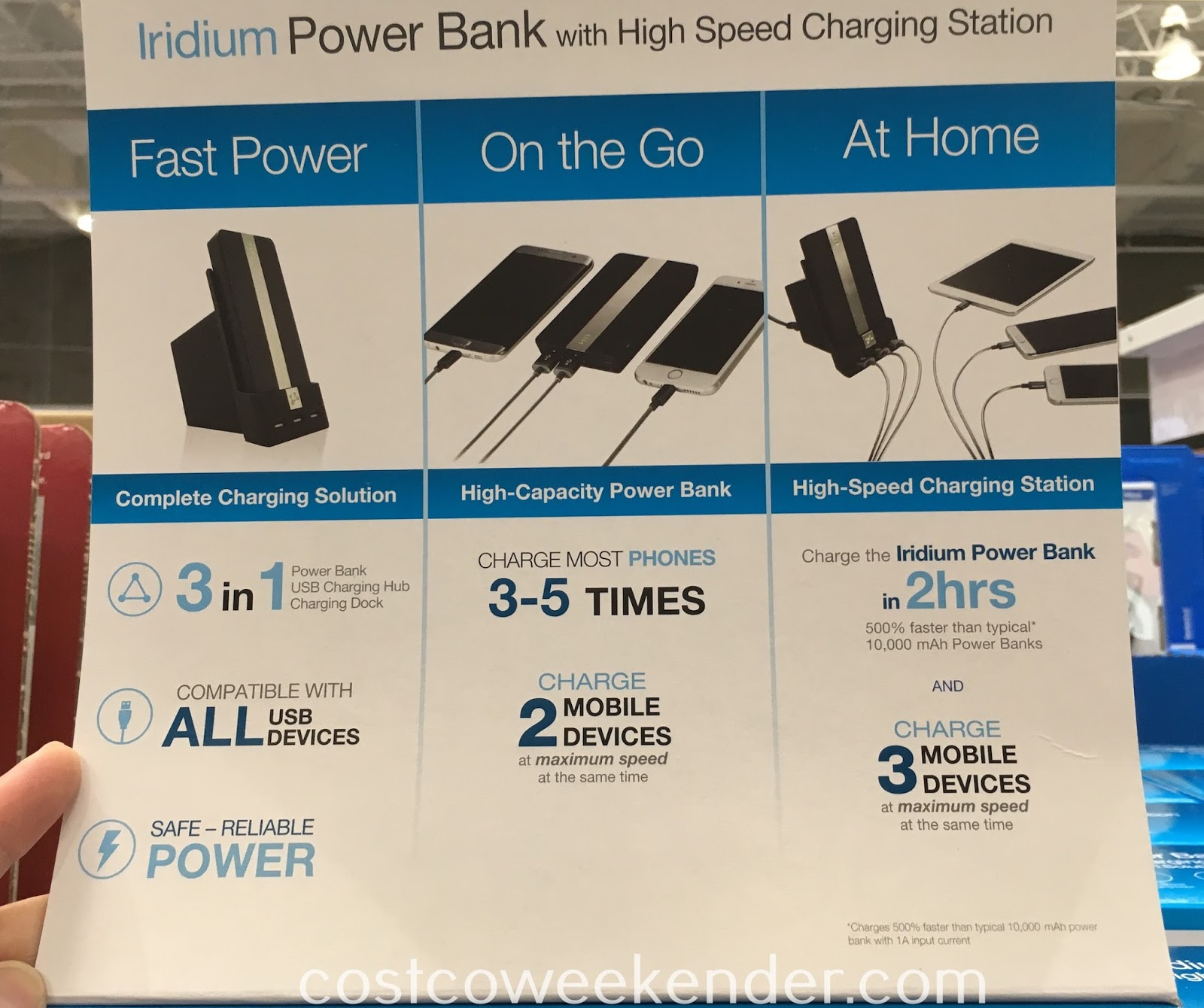 Costco 1095467 - Ubio Labs Iridium Power Bank with High Speed Charging Station - capable of charging multiple devices