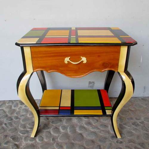 Tinuku.com Alldecos studio began painting on canvas to wood surface generate pop-classic and pop-shabby chic furniture