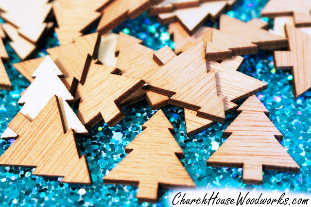 Wooden Christmas Tree Ornaments DIY, Snowflakes, Mittens, Stars, Stars, Stockings