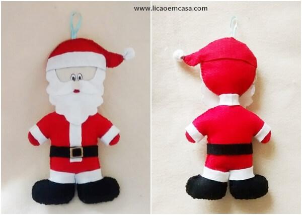 Papai Noel de feltro fácil de fazer