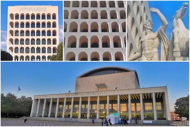 Palazzo della Civiltà del Lavoro – Palazzo dei Congressi en el EUR en Roma