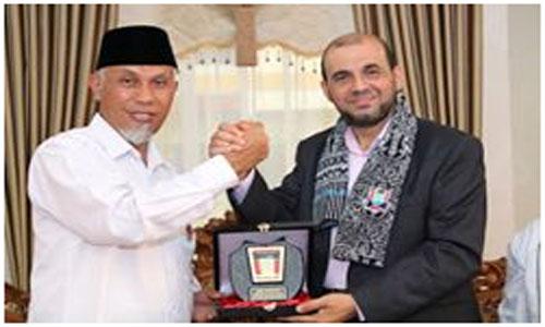 Dr. Ashraf A. AbuMhadi, utusan khusus Palestina  Datangi Kota Padang