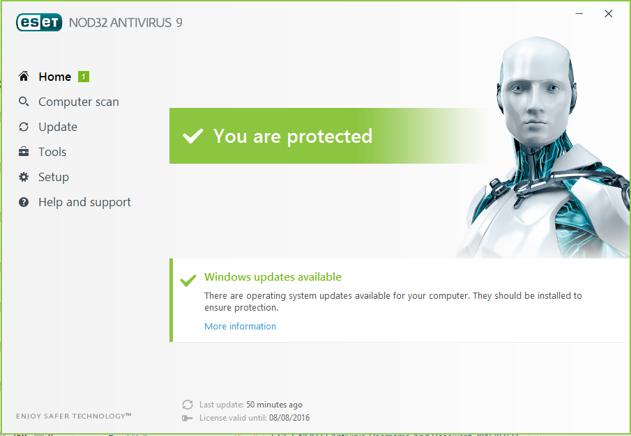 free eset nod32 antivirus 9 username and password