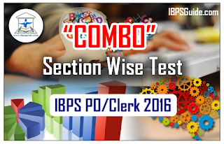 "IBPS PO/Clerk Exam 2016 – Section wise Full Test ""COMBO"""