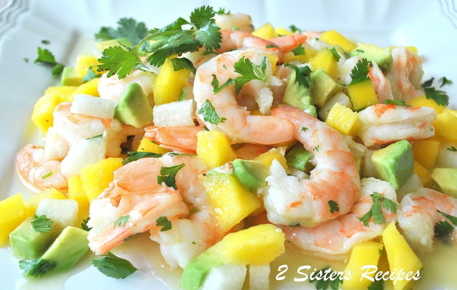 Zesty Lemon Shrimp and Mango Salad - 2 Sisters Recipes by ...