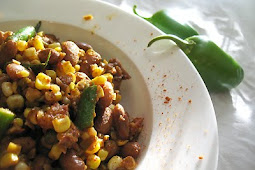 Chipotle Pinto and Green Bean Corn Succotash