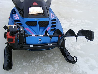 Auger Valve Image: Snowmobile Ice Auger Holder |Ice Auger Mount