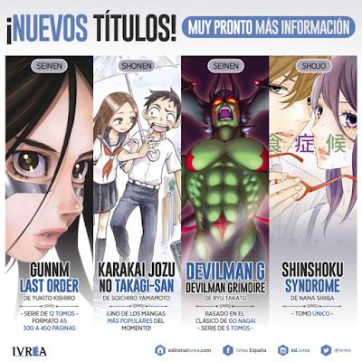 """Nuevas licencias de Ivréa anunciadas en el """"XXIV Salón del Manga de Barcelona""""."""