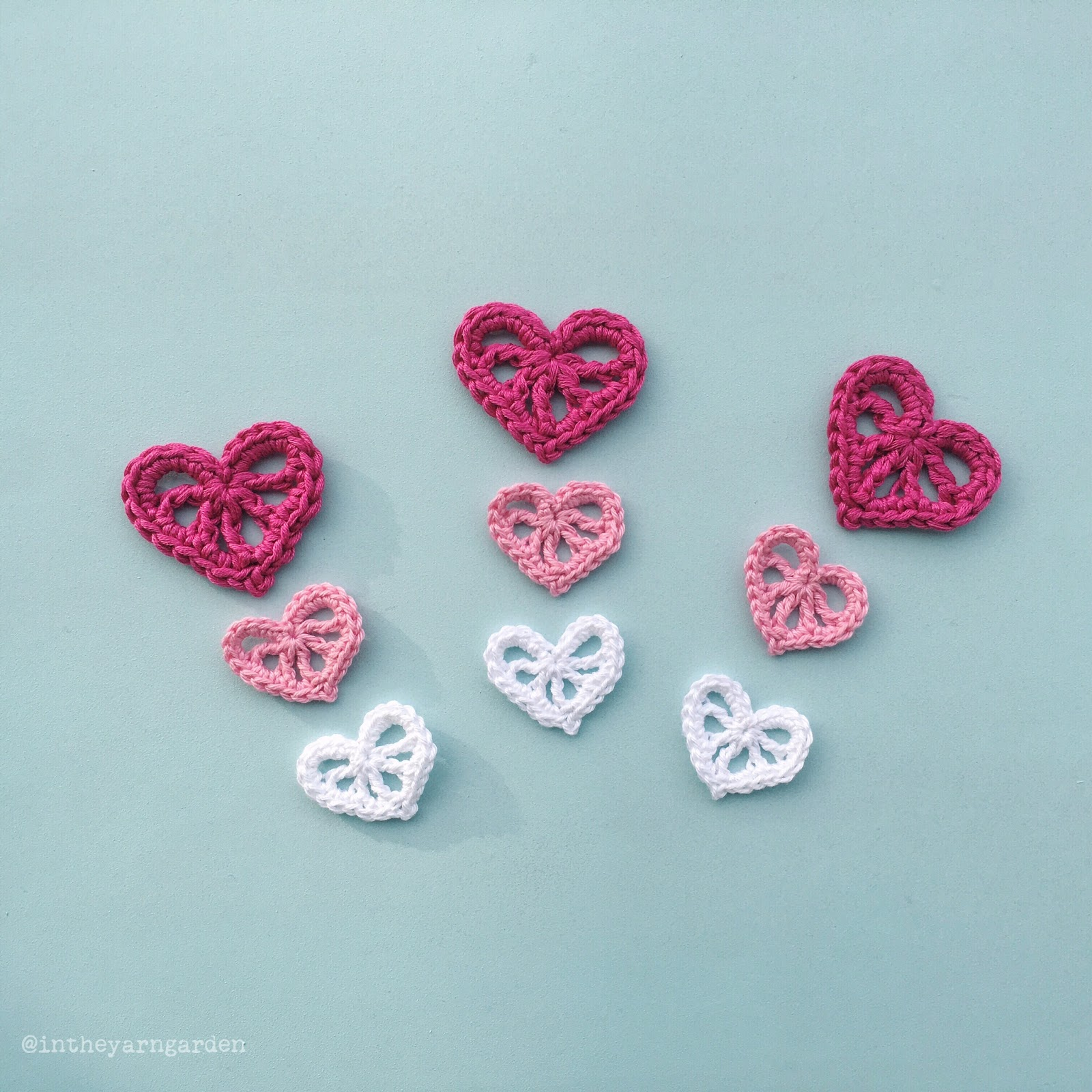 Crochet Stitches Decorative : Decorative crochet hearts
