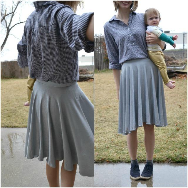 Me Made: Metallic Silver Skater Skirt