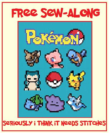 Seriously..I think it needs stitches.: Pokemon Fridays Sew Along