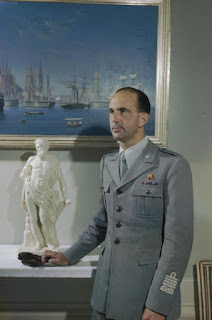 The future King of Italy, Umberto II, pictured  in 1944