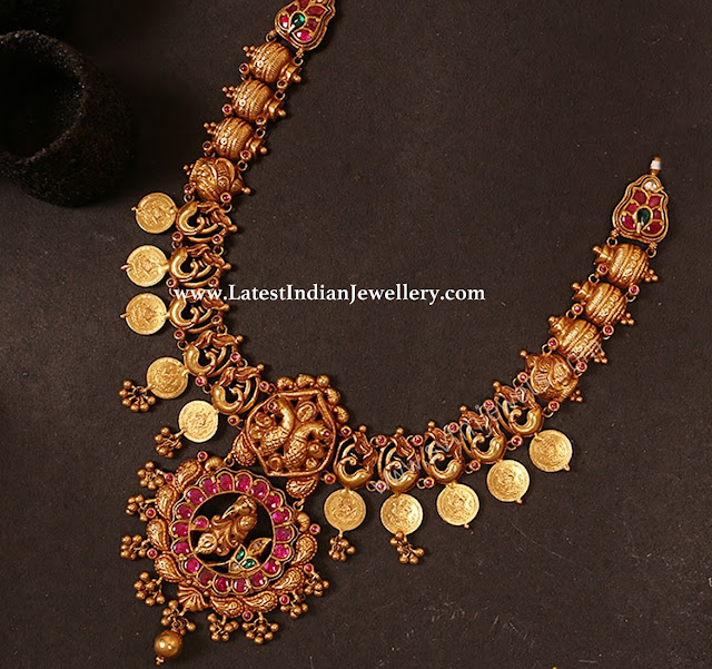 Peacock Kumbam Design Necklace