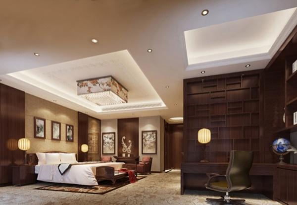 Chinese bedroom model renderings free 3ds max