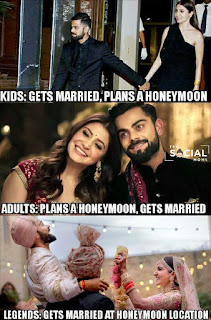 Funny Memes on Virat  Anushka Marriage