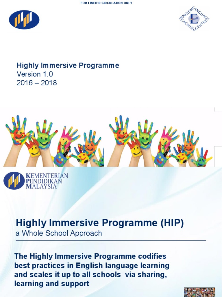 Unit Bahasa Ppd Kmy Highly Immersive Programme Hip