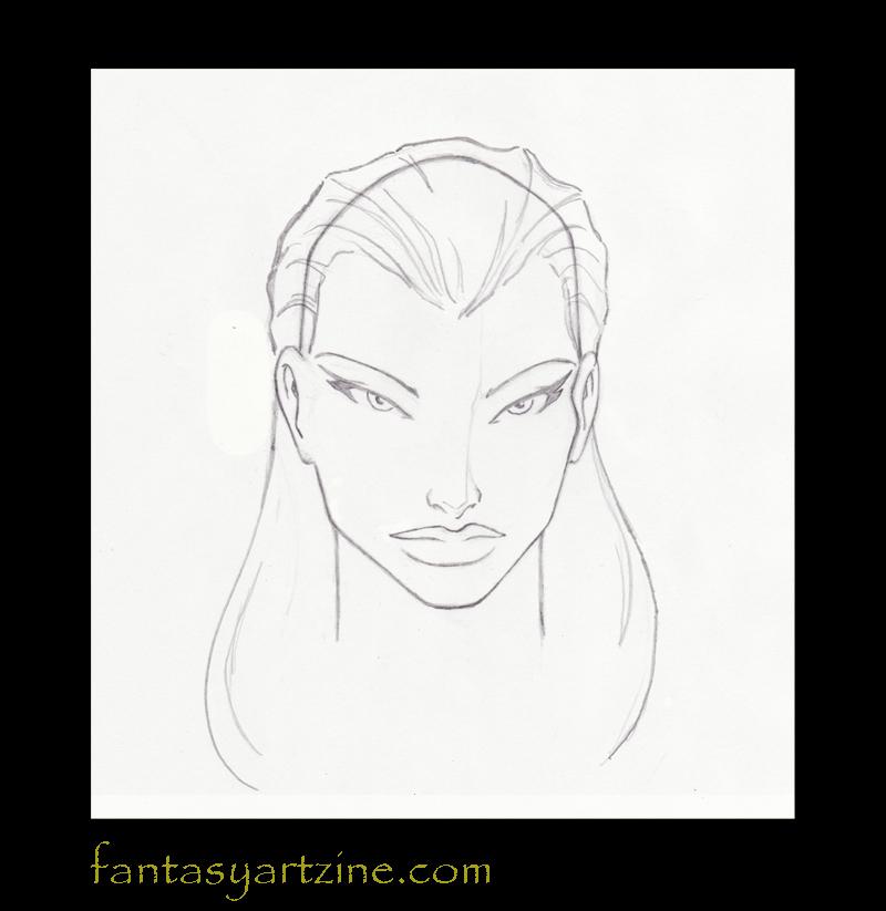 Come disegnare: Come disegnare i capelli lunghi di una donna