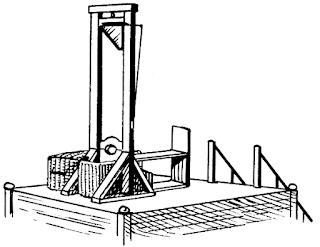 guillotine, guilhotina, cabeças, decapitar