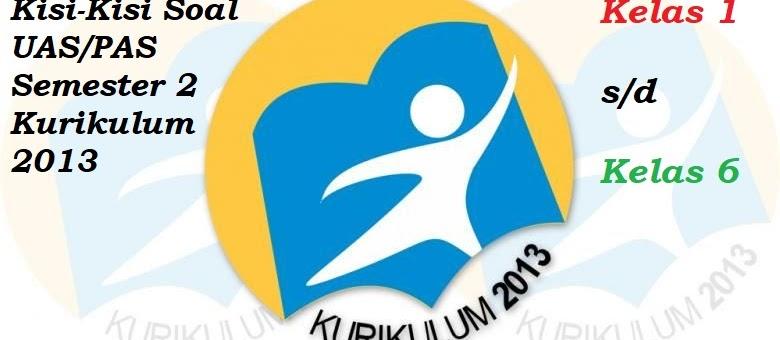 Kisi-kisi Soal UAS/PAS Kelas 1-6 Semester 2 Kurikulum 2013 Revisi Terbaru