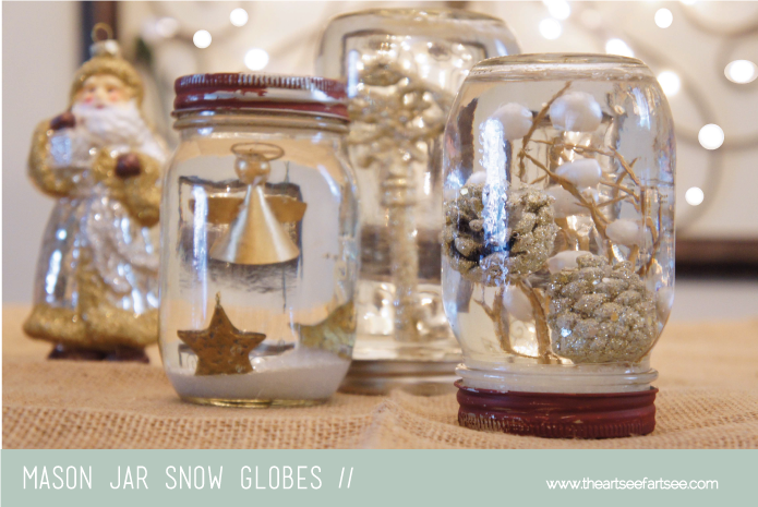How To Recycle Recycled Mason Jar Snow Globes Tutorial
