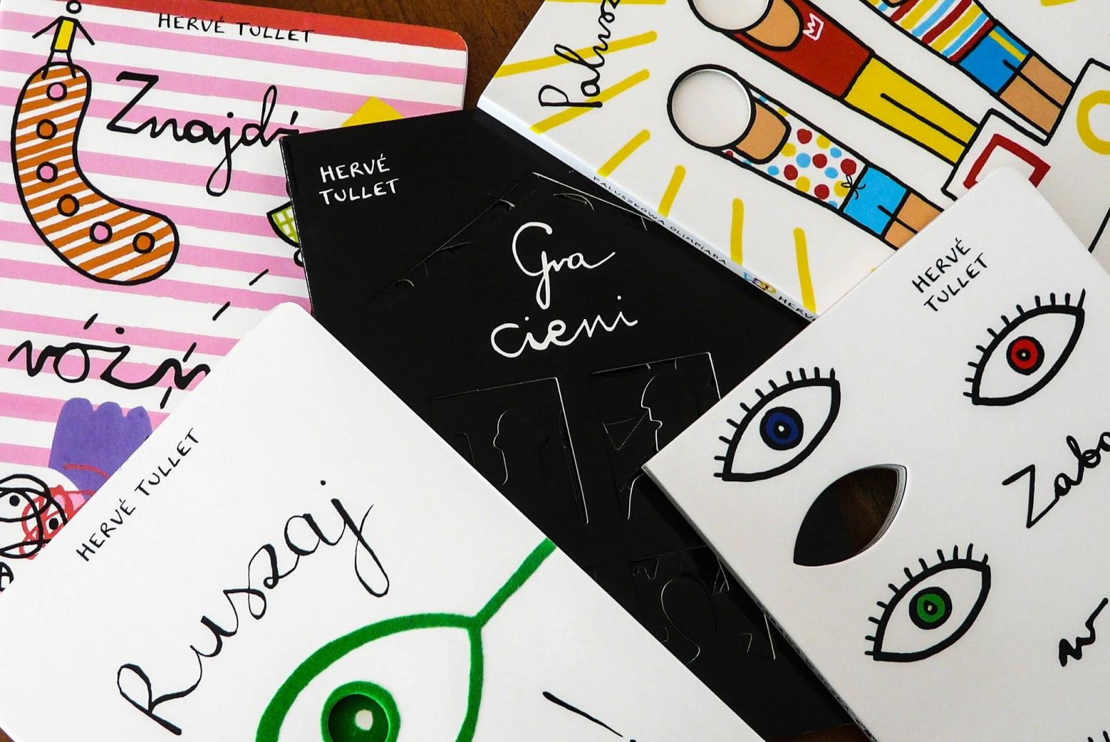 Herve Tullet, książki dla dzieci, książki dla dwulatka, książki dla trzylatka, książki interaktywne