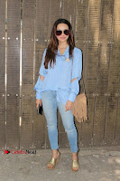 Actress Sana Khan Pos in Denim Jeans Dubbing at Her Upcoming Movie Toilet Ek Prem Katha .COM 0005.jpg