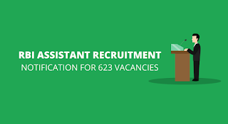 RBI Recruitment 2017 - 623 Vacancies for Assistants