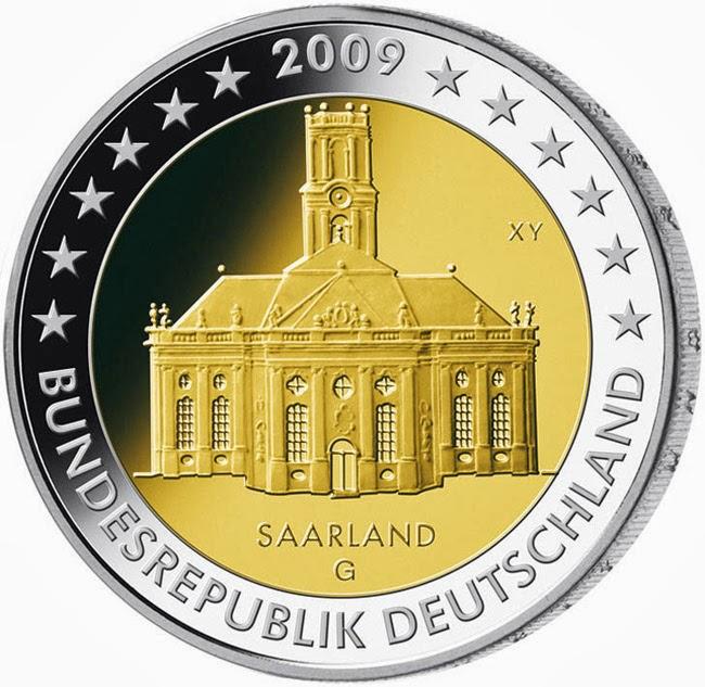https://www.2eurocommemorativecoins.com/2014/03/2-euro-coins-Germany-2009-ludwigskirche-in-saarbrucken-saarland-Bundeslander-series.html