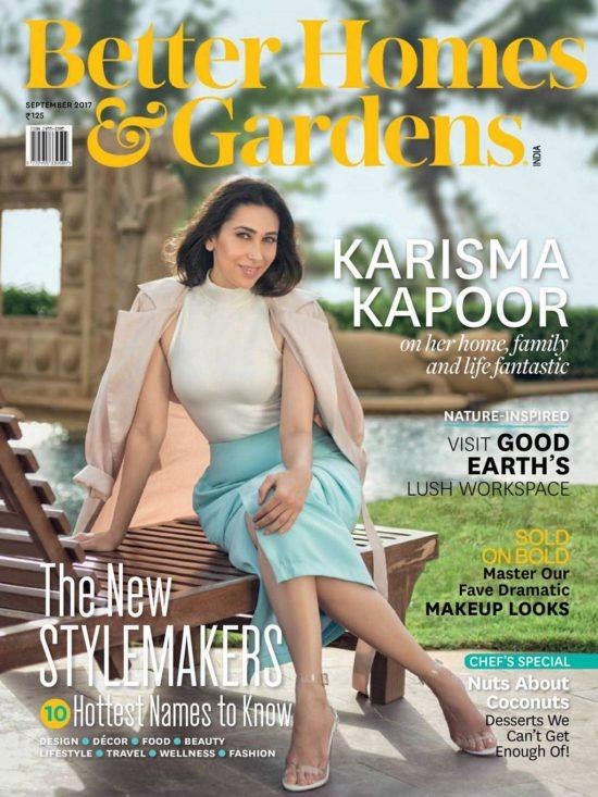 Karishama Kapoor On The Cover of Better Homes & Garden Magazine September 2017