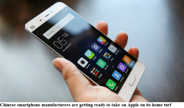 Chinese smartphone manufacturers are getting ready to take on Apple on its home turf