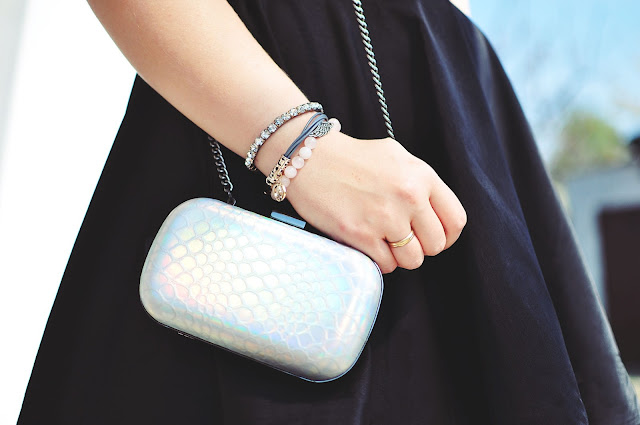 mała torebka, silver bag