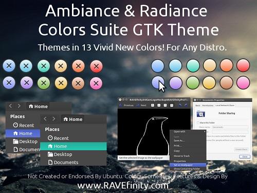Ambiance & Radiance Colors Theme Suite For Ubuntu/Linux Mint