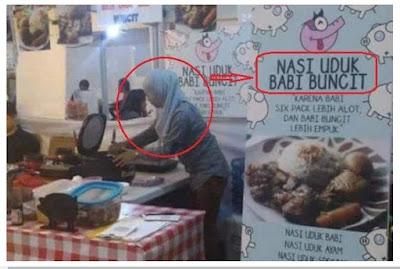 Tanggapan Muslimah Penjaga Nasi Uduk Babi Buncit
