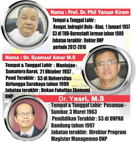 Tiga Calon Rektor Berebut Kursi UNP1
