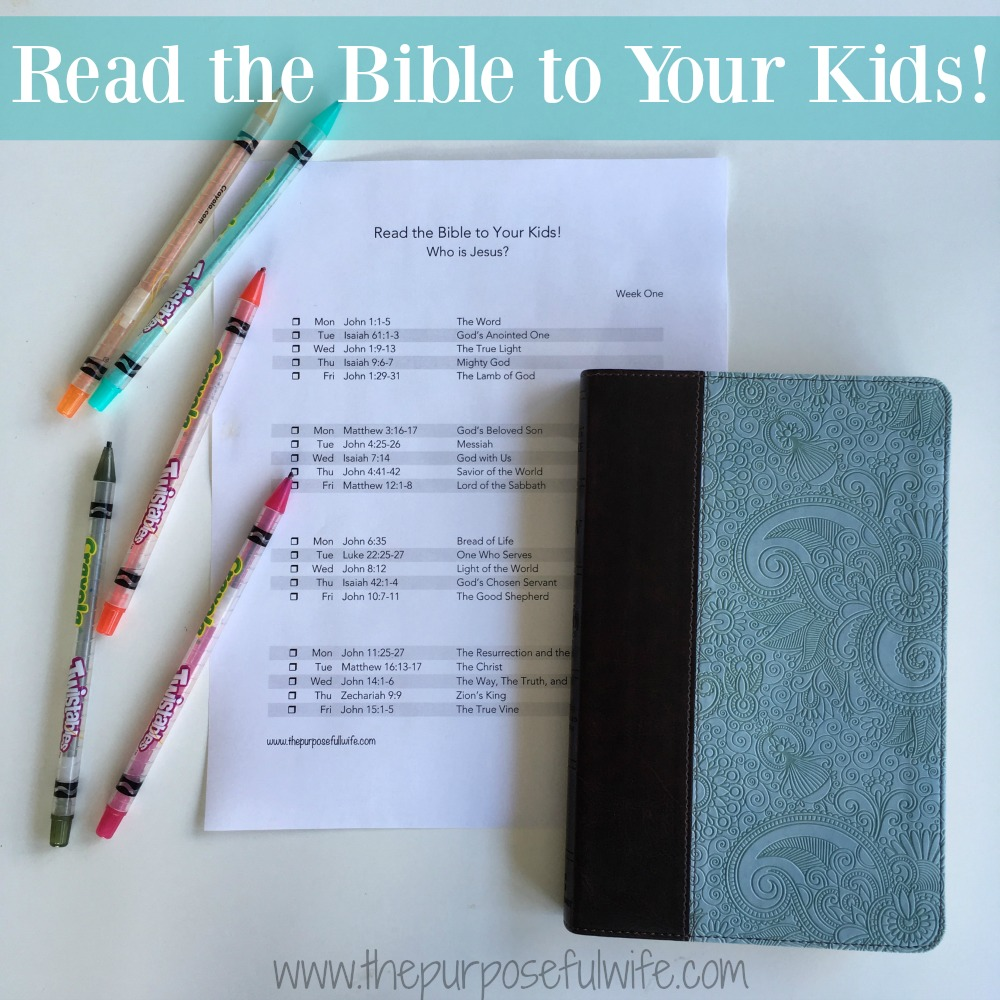 A Bible Reading Plan for Little Ones {Who is Jesus?}