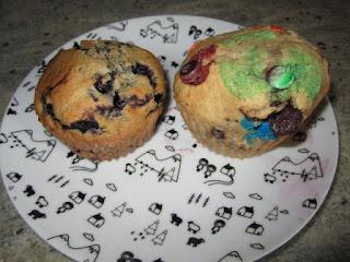 Muffins M&M'S et Muffins myrtilles