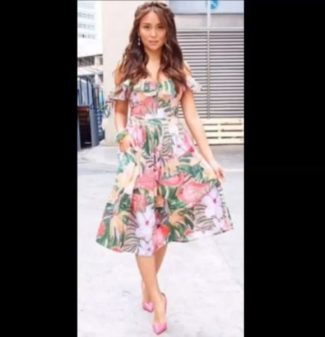 Fashion Style Face Off: Who Wore The Floral Dress Better, Kathryn Bernardo Or Heart Evangelista?