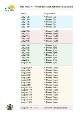 Npower releases new assessment time table: Npower latest news