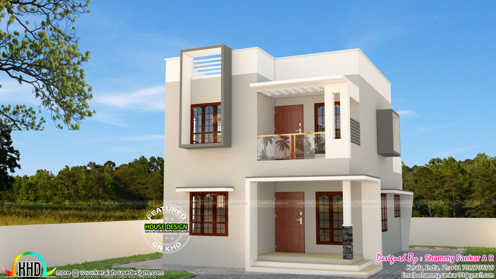Simple Contemporary Style 1314 Sq Ft Home Kerala Home Design And