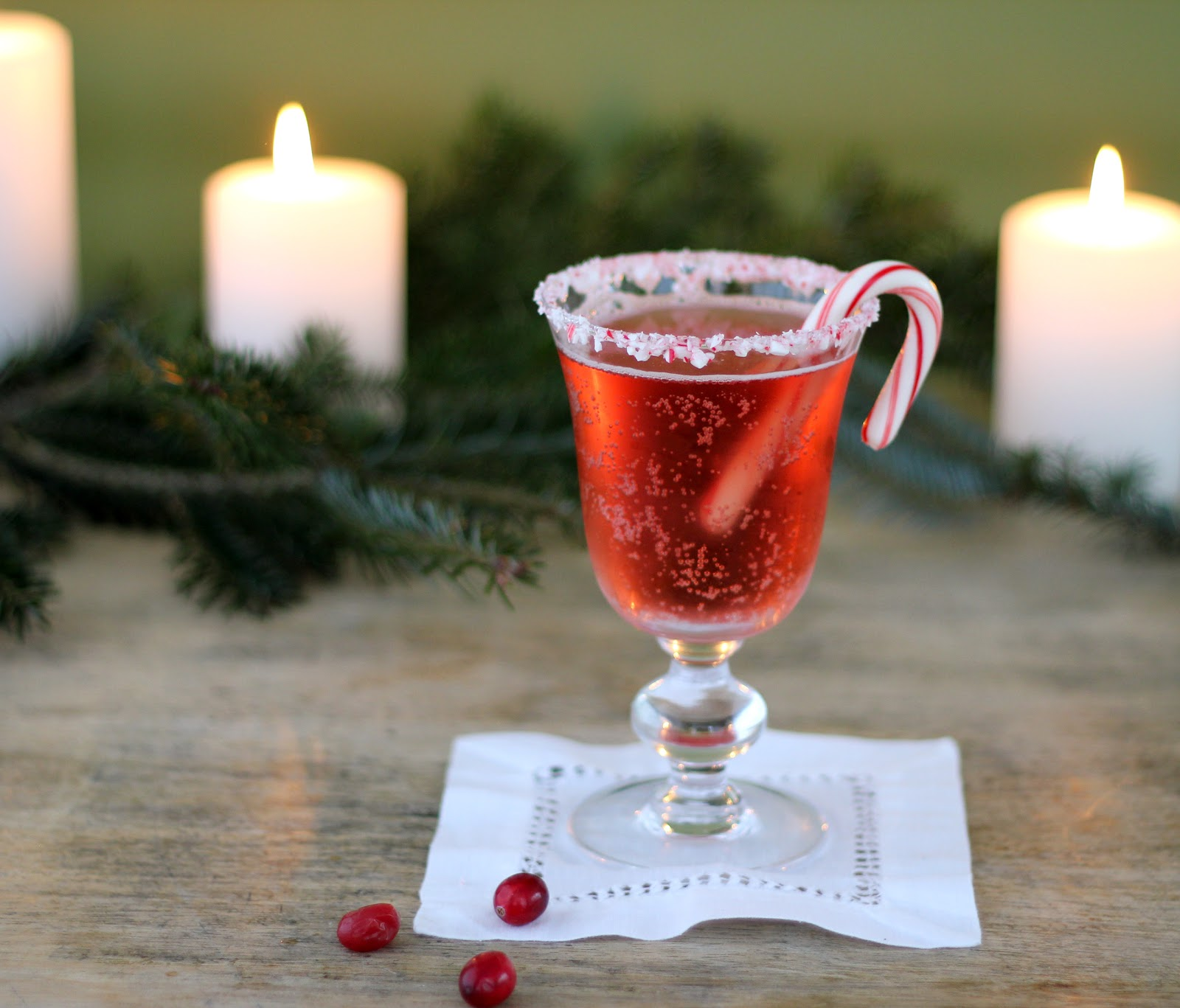 Jenny Steffens Hobick: Candy Cane Cranberry Cocktail
