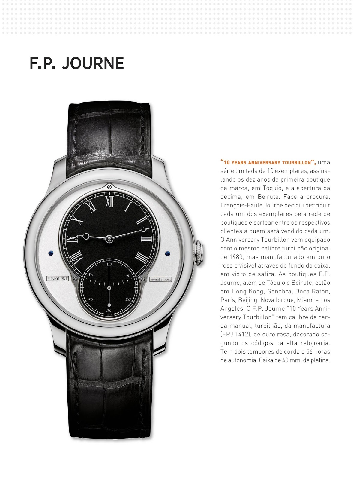 feb4914cd51 Relógios   Canetas online - relógio F.P.Journe
