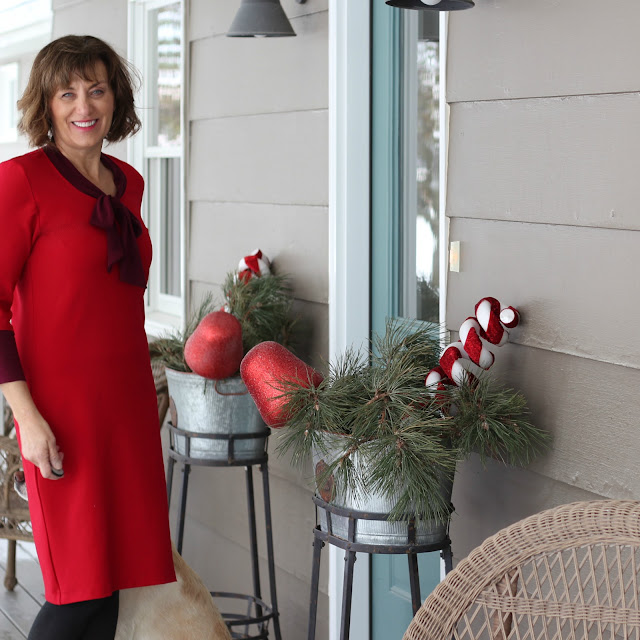 The Little Red Dress Project - McCall's 6886 with modifications using fabric from Style Maker Fabrics