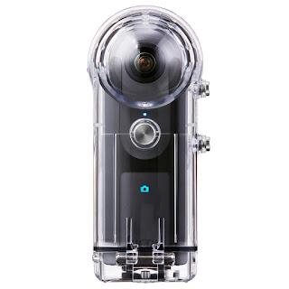 Аквабокс Ricoh TW-1 с камерой Ricoh Theta V 360 внутри