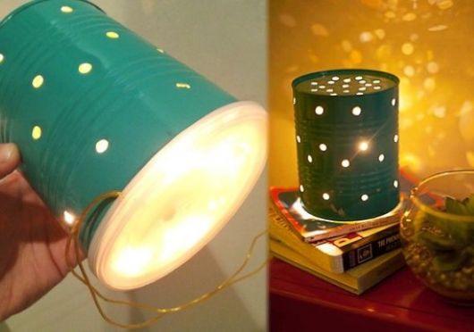 Luminária de Lata de Leite