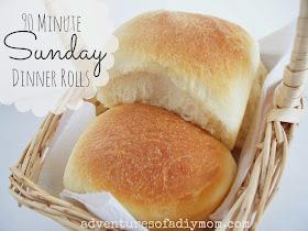90 Minute Sunday Dinner Rolls
